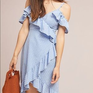 Red carter Lucy ruffled dress